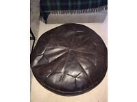 Brown Leather Footstall from Next excellent condition