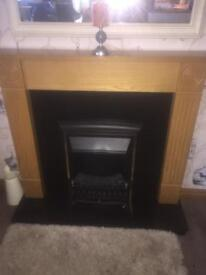 Electric fire place and surround.