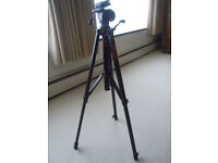 Camera Tripod and Zipped Carrying Bag.