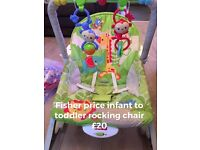 Rocking and bouncing chair