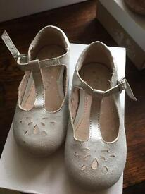 Girls Next Silver Shoes size 6