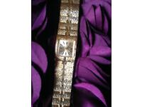 A Very Rare Vintage 1970's Swiss Leno Full Lever 21 Jewel Mechanical Wind Ladies Wrist Watch