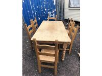 French oak table and chairs