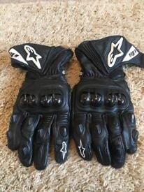 Motorcycle Alpinestars GP plus gloves mint condition