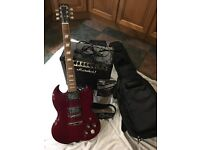 Electric guitar and Amp - ideal starter guitar