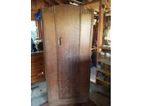 Art Deco Oak Dressing Table, Wardrobe and Chest of Draws