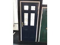 Engineered timber front entrance door set 865 x 2040
