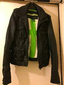 Real Leather Superdry Ladies Jacket xs