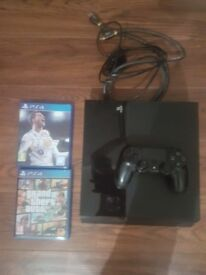 Ps4 500gb with 1 controller + 2 games