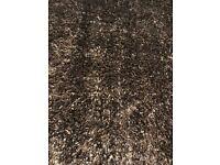 Habitat 'Glamour' brown long pile rug
