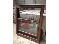 Double-glazed, timber-framed window