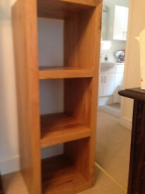 Vertical Display Unit in Pine, with Three Display Sections.