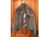 Girls Fur Coat From Next , Originally cost £80