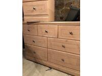 Midsize 7 Drawer Chest & 3 Drawer Bedside Unit