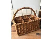 Lovely Wicker Bottle Basket