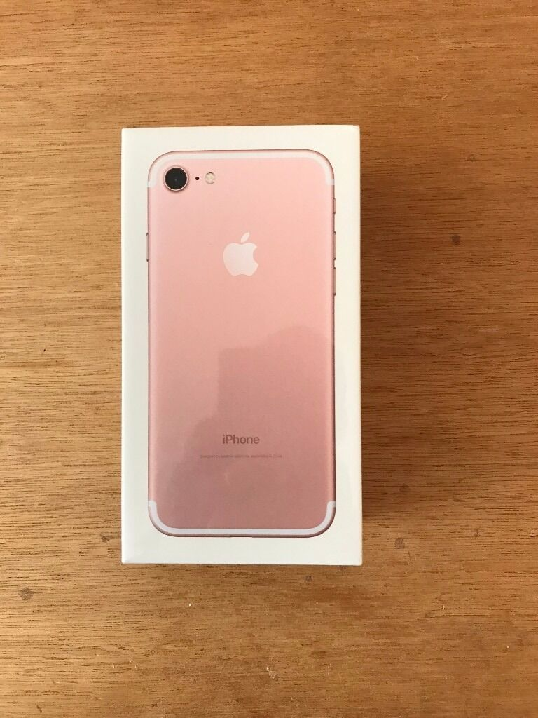flash sale brand new sealed apple iphone 7 32gb rose gold 100 off rrp in southside glasgow. Black Bedroom Furniture Sets. Home Design Ideas