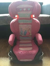Disney princess childs car seat high backed booster