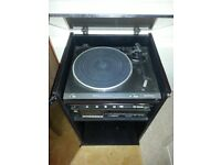 TECHNICS CLASSIC HIFI SYSTEM WITH GLASS FRONTED WOOD CABINET