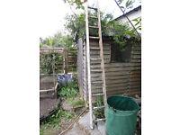Old wooden ladder - 8ft