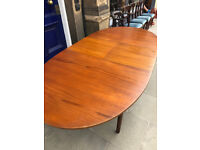 Retro Macintosh Teak Dining Table Free Local Delivery W 37.5in L 60in ( Full Length 78in ) H 29in.