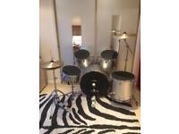 Performance Percussion PP300 Complete Drum Kit - Metallic Silver (USED)