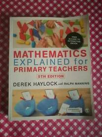 PGCE- Mathematics explained for primary teachers