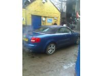 audi a4 cabriolet 2.4 auto............ no mot, not been used since summer grab a bargain £750 o.n.o