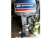 Evinrude 25hp 2 stroke outboard engine
