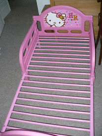 Hello Kitty Character Toddler Bed/ Cot Bed Frame for girl 1.5-7 years old. Excellent condition!