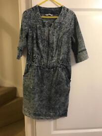 Ladies denim dress/tunic size l