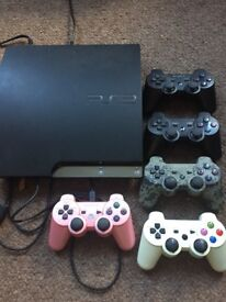 PS3 slim 320gb, 5 controllers, and 37 games!!!