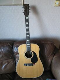 Six String Hondo Accoustic Guitar