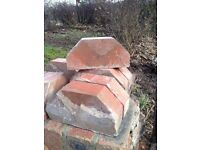 Garden wall edging bricks