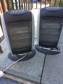 Halogen heaters