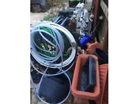 garden clearing out ornaments/ pots/bric a bric