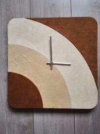 Suede effect clock