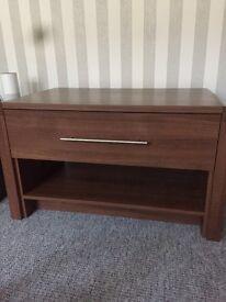 Dark coffee table/tv unit