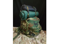 BACKPACK MOLLE II WOODLAND COMPLETE FRAME US ARMY LARGE BIG RUCKSACK CAMO BELT