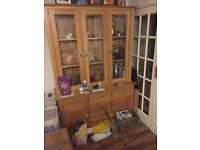 Solid Oak Display Unit For Sale