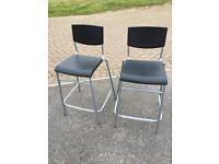 2 nearly new Ikea bar stools tall chairs
