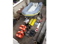 Avon Rib Boat (3m, 4 person), trailer, Mariner outboard and all the kit