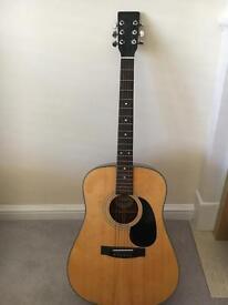 Hondo full size acoustic guitar