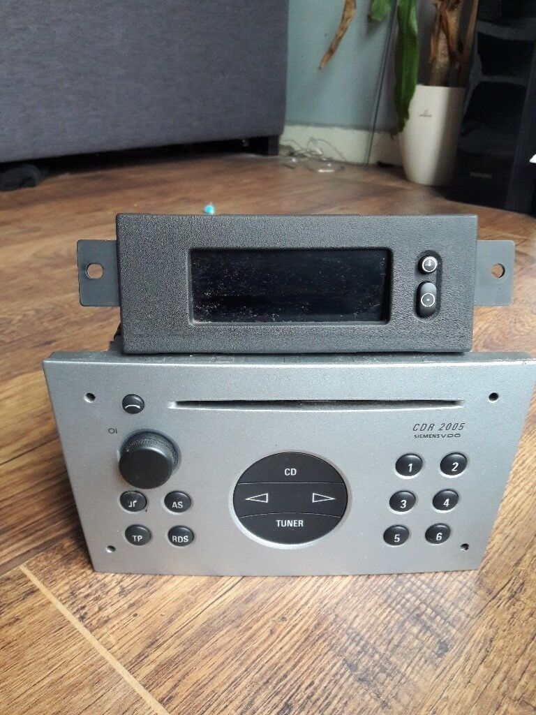 vauxhall meriva / corsa / vectra - radio display with code
