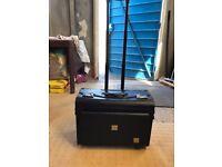 Black Laptop Trolley Case