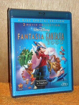 Fantasia Anthology (Blu-ray/DVD, 2010, 4-Disc Set, Special Edition) Mickey Mouse