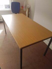 Oak effect office tables 1600mm