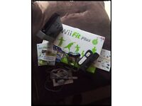Wii console wii fit plus