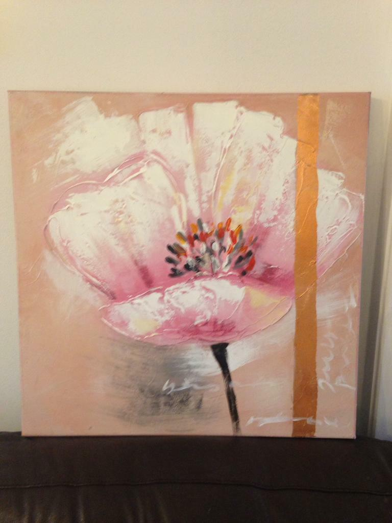 Pink flower canvas from Next