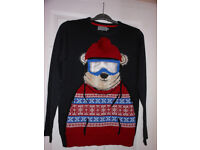 """NEW CHRISTMAS / WINTER JUMPER / SWEATER TU SIZE S MEASURES 40"""" CHEST UNDERARMS"""