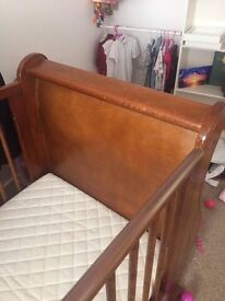 Baby Sleigh Cot/Bed